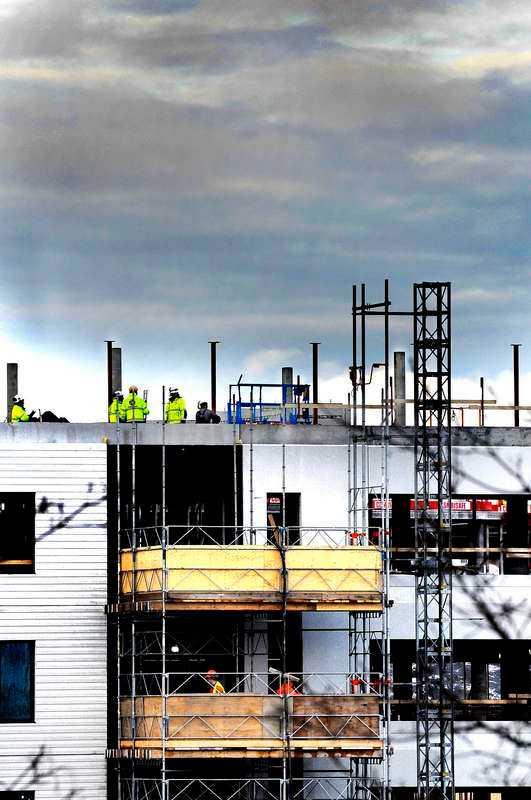Bostadsbyggande i Hammarby sjöstad, Stockholm.