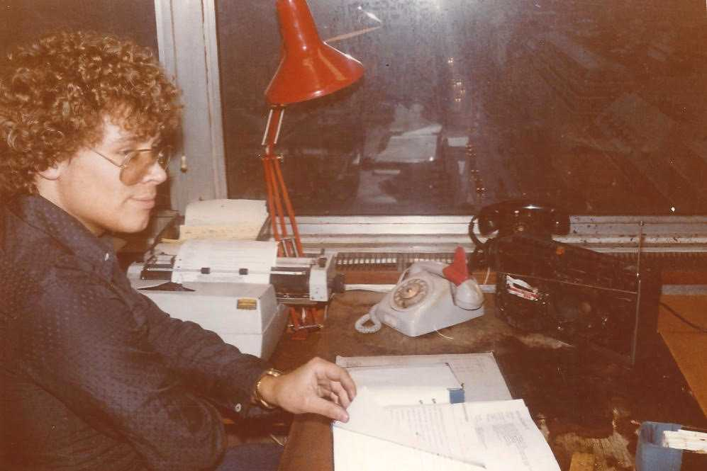 Staffans före detta kollega Egon Malmgren. Telefon och radio har smält efter Staffan Doppings incident.