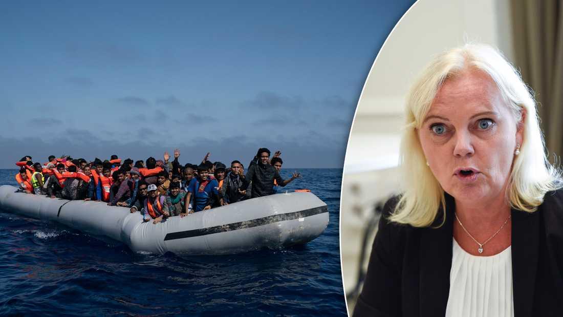 I korthet är detta SD:s mycket långsiktiga vision om asylmottagande. Inga asylsökningar på plats i EU/Europa, utan enbart utanför,  skriver debattören.