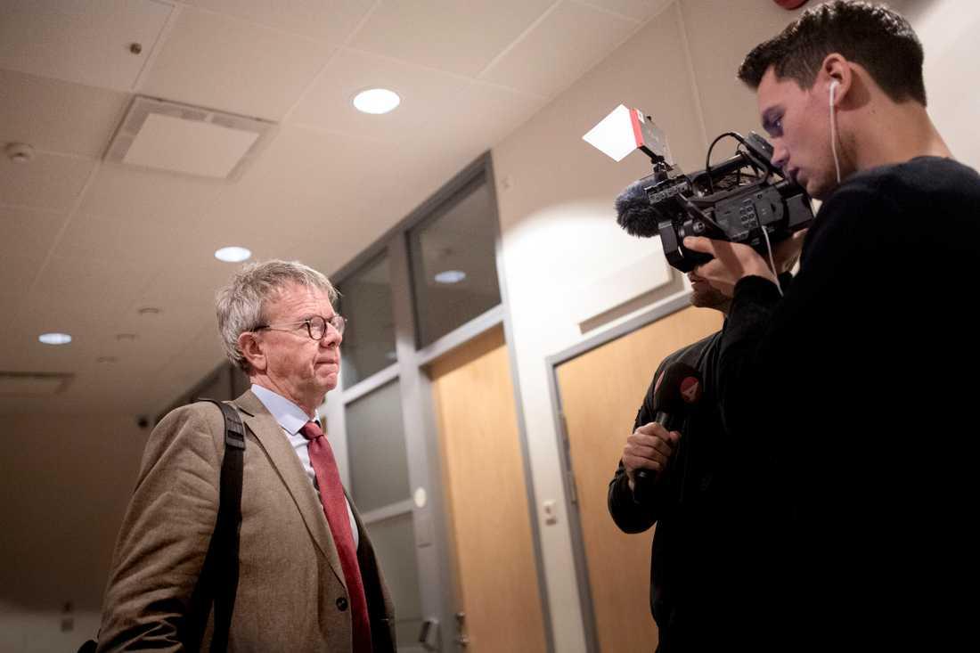 Åklagaren Thomas Ahlstrand i samband med rättegången i Göteborgs tingsrätt.
