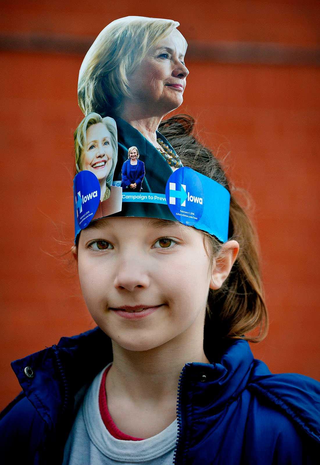 FANS Celia, 10 år, tyckte att Hillary Clinton var cool.