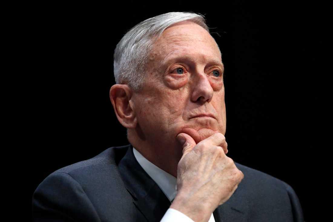 USA:s försvarsminister Jim Mattis. Arkivbild.