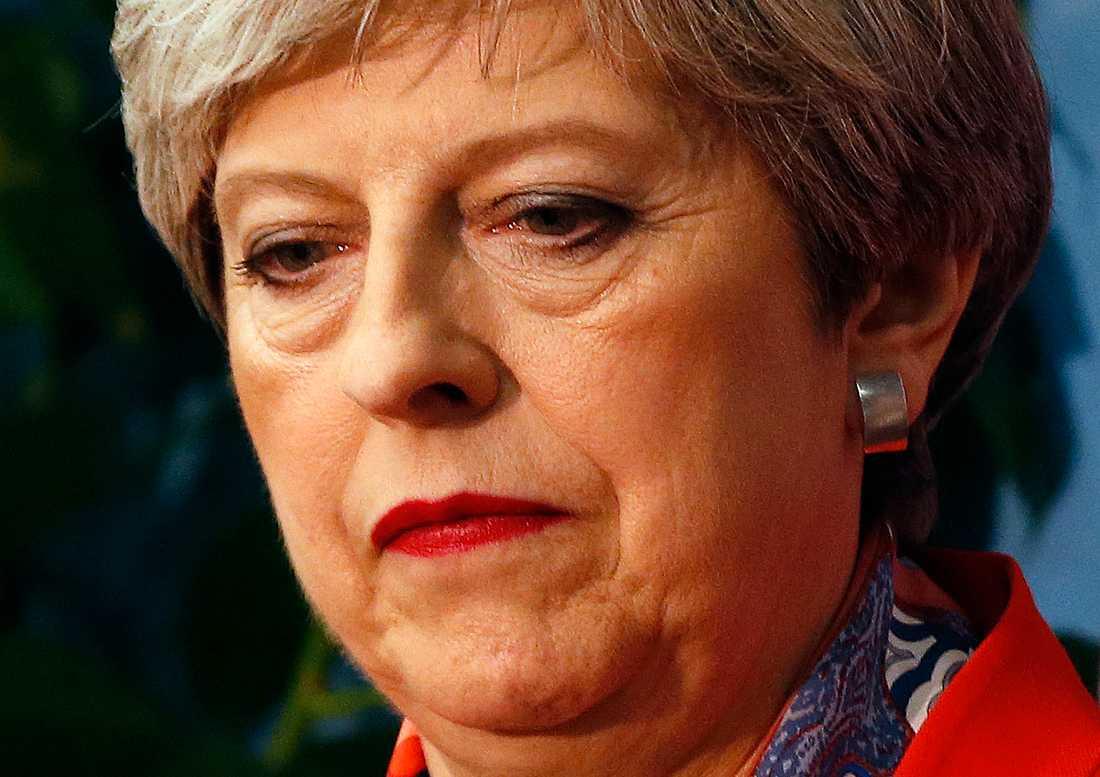 Tårögd Theresa May.