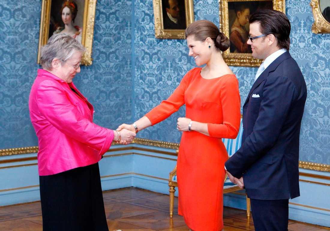 Mottagning på Stockholms slott med anledning av förlovningen mellan kronprinsessan Victoria och Daniel Westling.