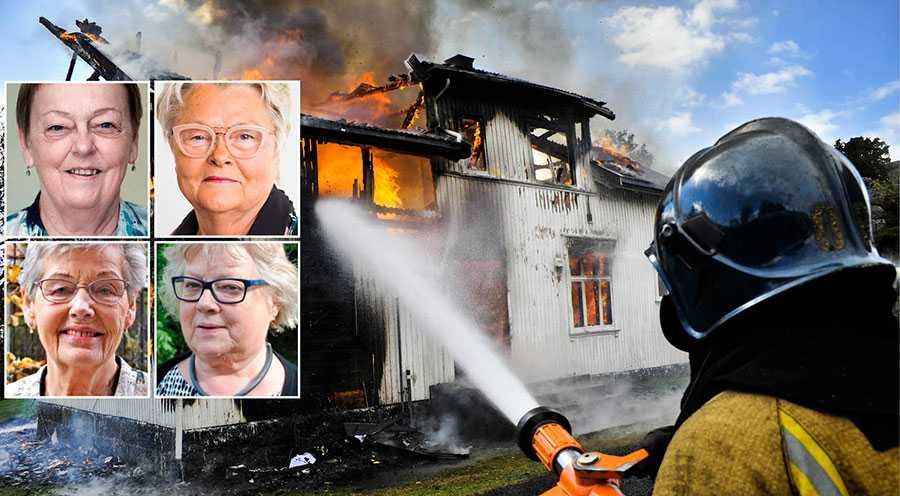 Vi, de fyra största pensionärsorganisationerna, representerar 830 000 pensionärer i Sverige och bildar nu tillsammans initiativet för äldres brandskydd, skriver Christina Tallberg, Eva Eriksson, Berit Bölander och Monica Blomberg.