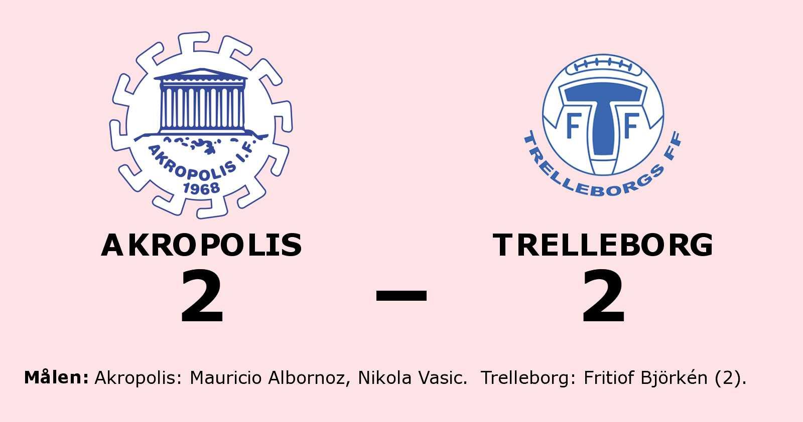 Akropolis fixade kryss hemma mot Trelleborg
