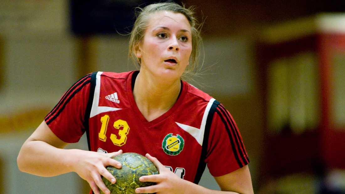 Isabelle Gulldén i Sävehof-tröjan i februari 2008.