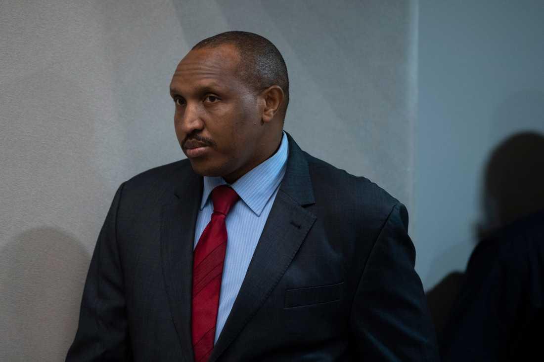 Milisledaren Bosco Ntaganda när han anländer till rättssalen vid ICC för att få höra sin dom.