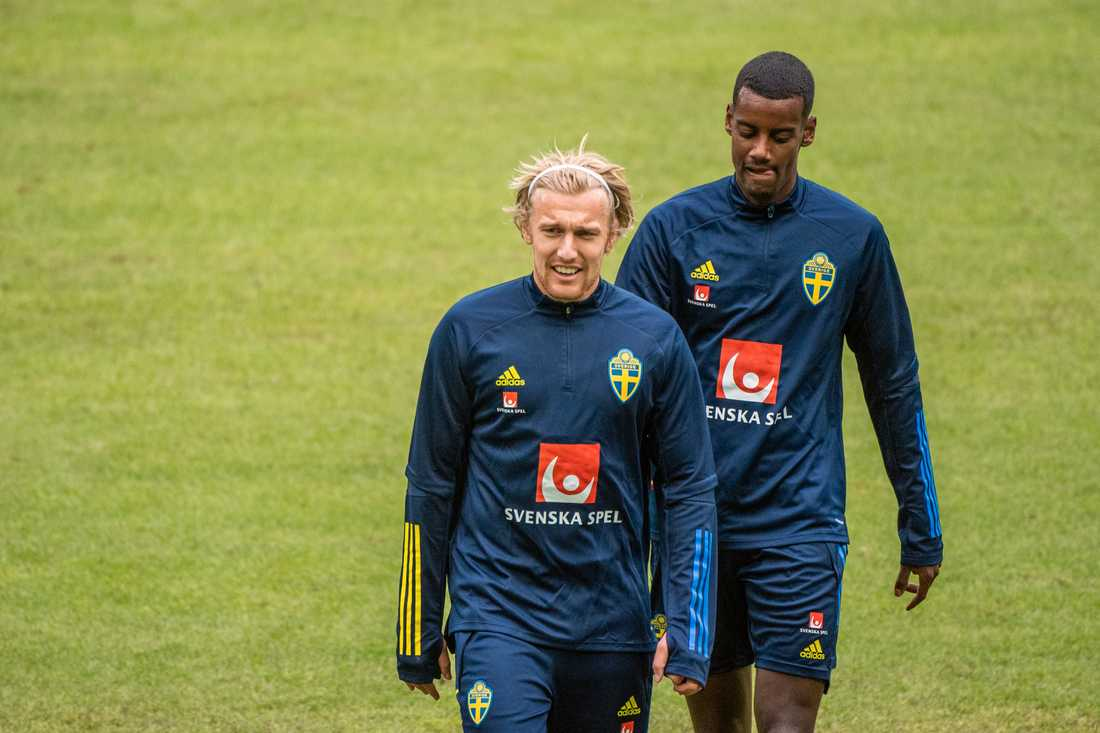 Emil Forsberg och Alexander Isak.
