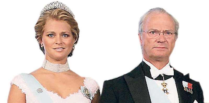 Prinsessan Madeleine och kung Carl XVI Gustaf.