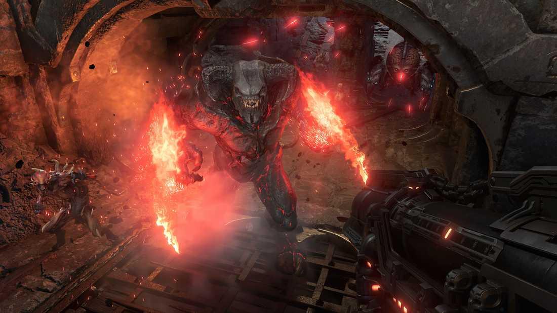 """De första timmarna av """"Doom eternal"""" kan kännas frustrerande, medger skaparna. Det gäller att spela på det sätt som tänkts för att överleva. Pressbild."""