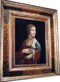 """Leonardos """"Dam med hermelin"""" - en dyrgrip på Czartoryskimuseet."""