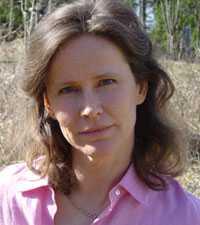 """Mona Nilsson, författare till """"Mobiltelefonins hälsorisker - fakta om vår tids största miljö- och hälsoskandal.""""."""