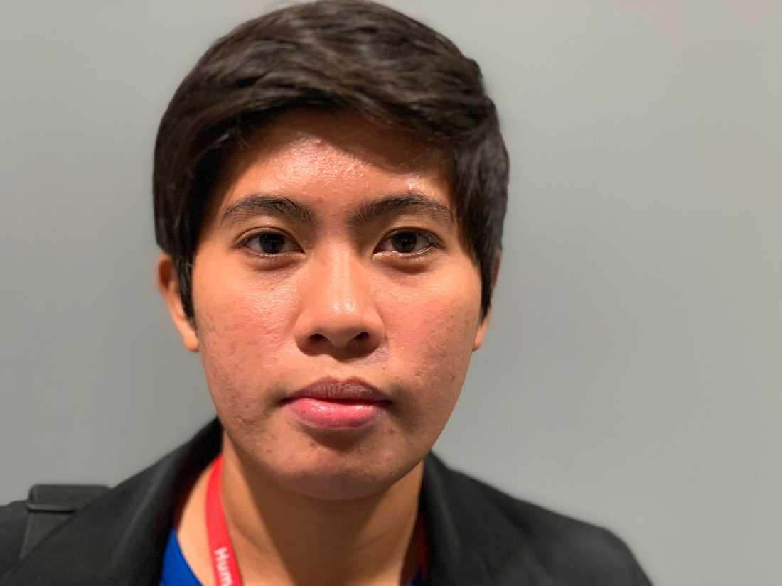 Kisha Muaña, klimataktivist från Filippinerna.
