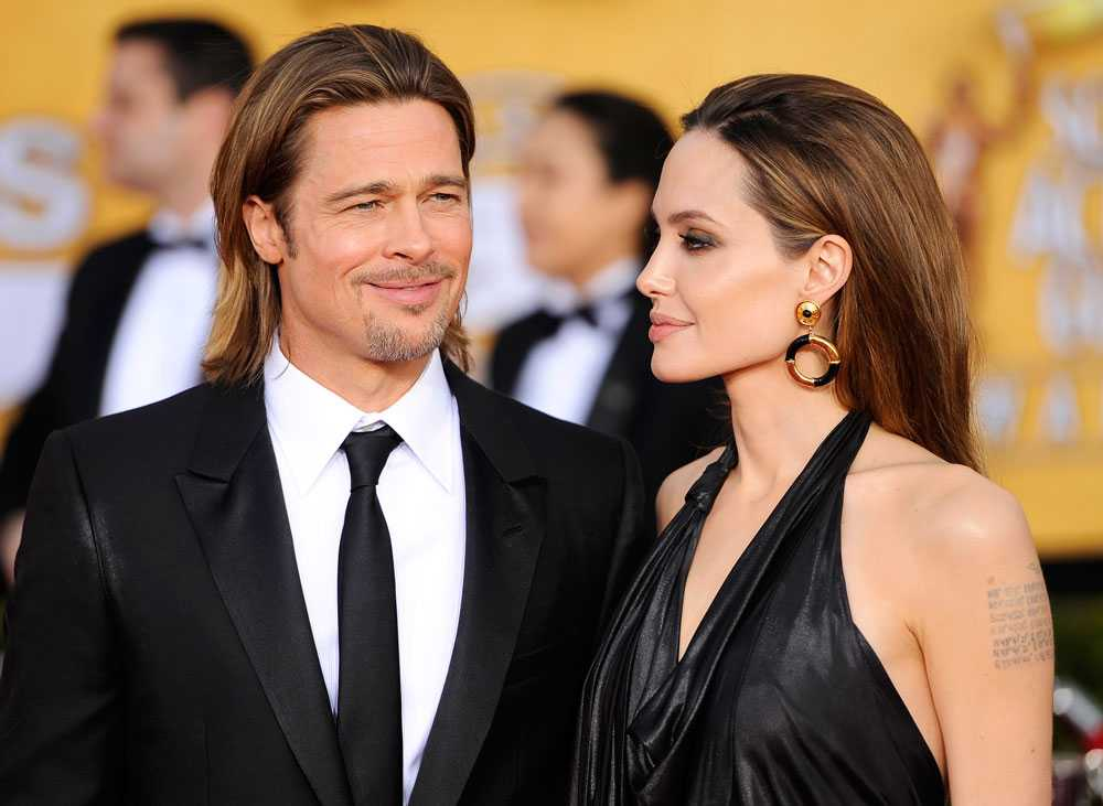 Anistons exmake Brad Pitt gifter sig snart med fästmön Angelina Jolie.