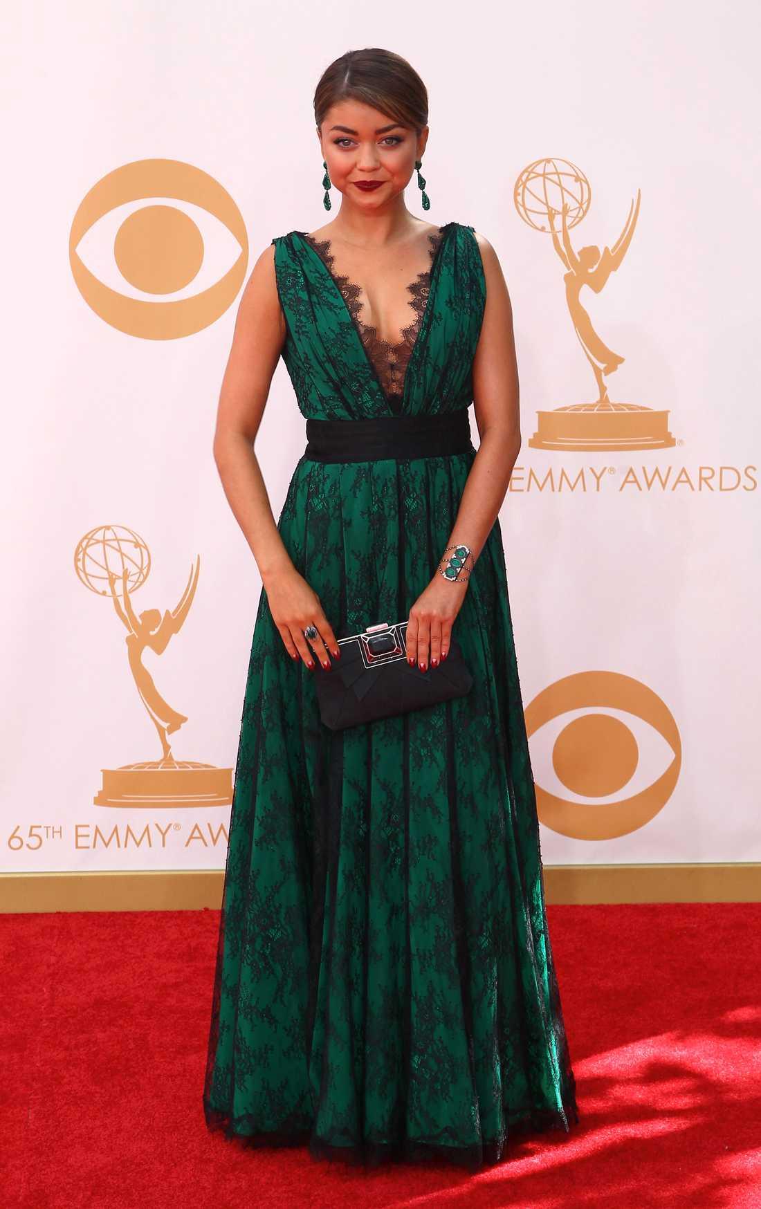 "Sarah Hyland ""Modern family""-aktrisen Sarah Hyland valde smaragdgrönt från CH Carolina Herrera."