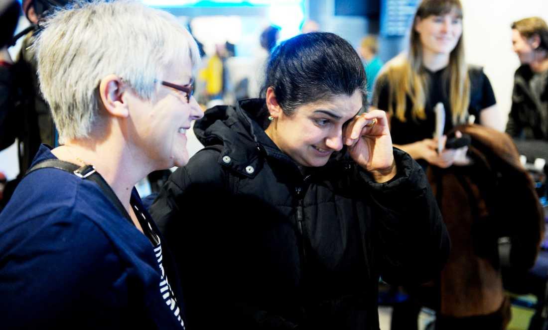 Familjen Danielian landade på Arlanda i dag.