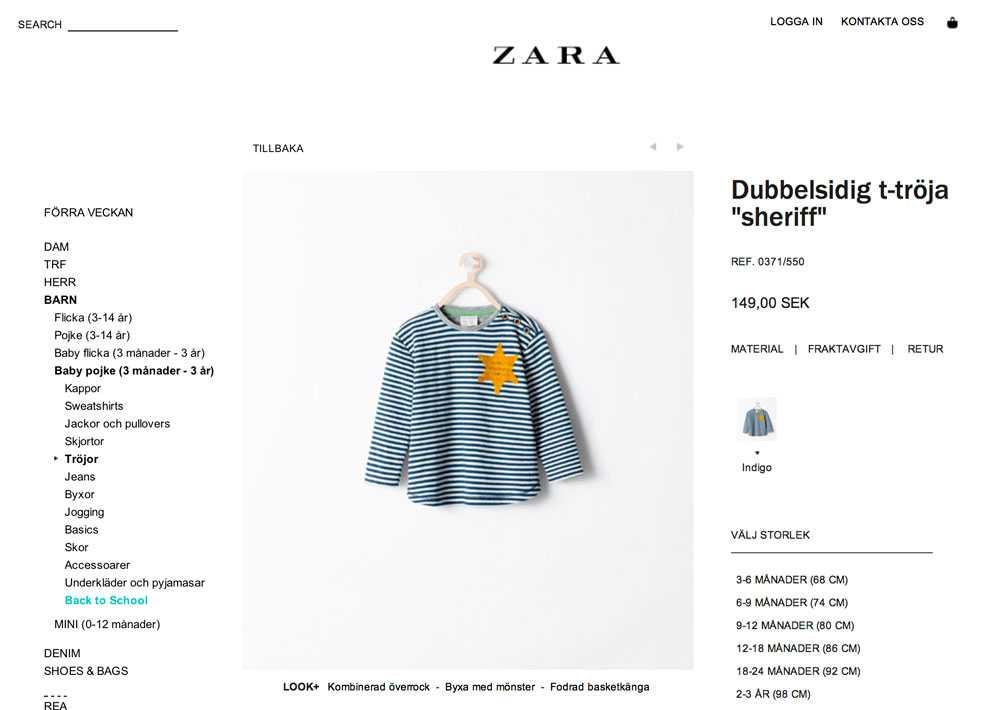 380aa6d3d66d Klädbutiken Zaras barntröja väcker ilska | Aftonbladet