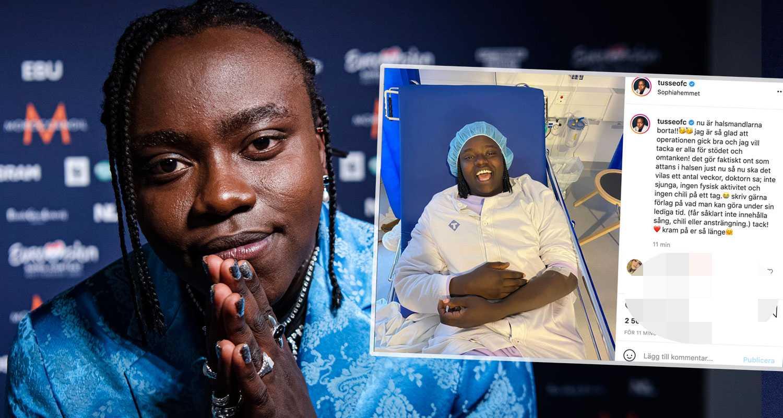 """Tusse tvingad till operation – artistens hälsning från sjukhusbädden: """"Gör faktiskt ont som attans"""""""