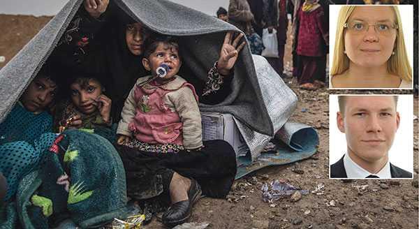 Att regeringen beviljar amnesti för ensamkommande från Afghanistan där vissa kanske helt saknar asylskäl, samtidigt som insatserna för flyktingar internationellt är svaga är en märklig prioritering, skriver Julia Kronlid och Markus Wiechel, Sverigedemokraterna. Bilden är från flyktinglägret Hammam al-alil söder om Mosul.
