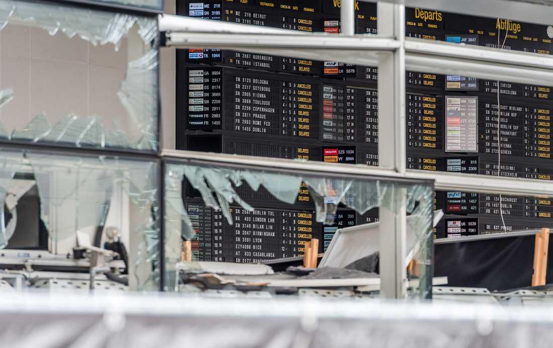 Terrordådet på flygplatsen i Bryssel.