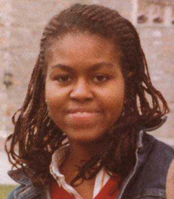 Michelle Obama som ung student.