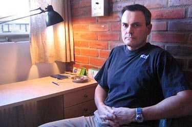 """Mars 2005 Lasermannen John Ausonius, 51, har suttit inlåst i snart 13 år. """"Jag har varit hänsynslös. Men jag har alltid haft dåligt samvete för dem jag sköt."""""""