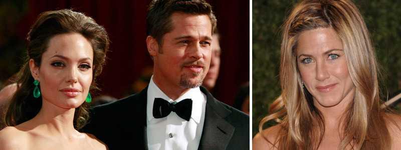Angelina Jolie, Brad Pitt och Jennifer Aniston befann sig alla på årets Oscar-gala.