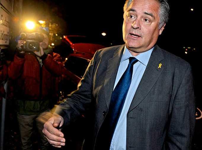 Försvarsmaktens presschef Roger Magnergård mötte pressen på lördagskvällen.