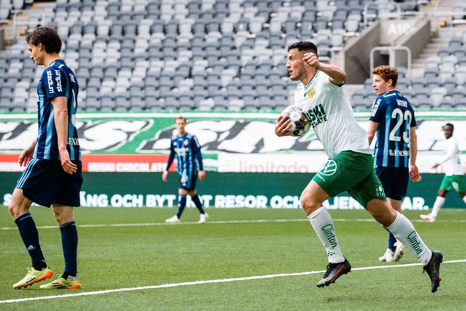 Astrit Selmani gjorde sitt första allsvenska mål i klubben.