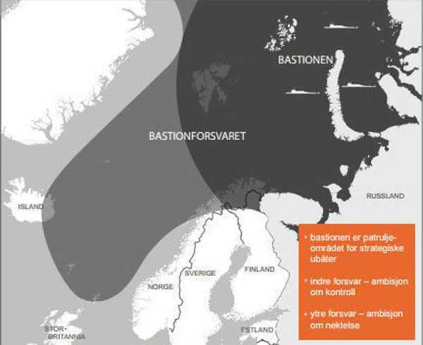 En beskrivning av rysslands bastion och bastionförsvaret som Norge vill ha.