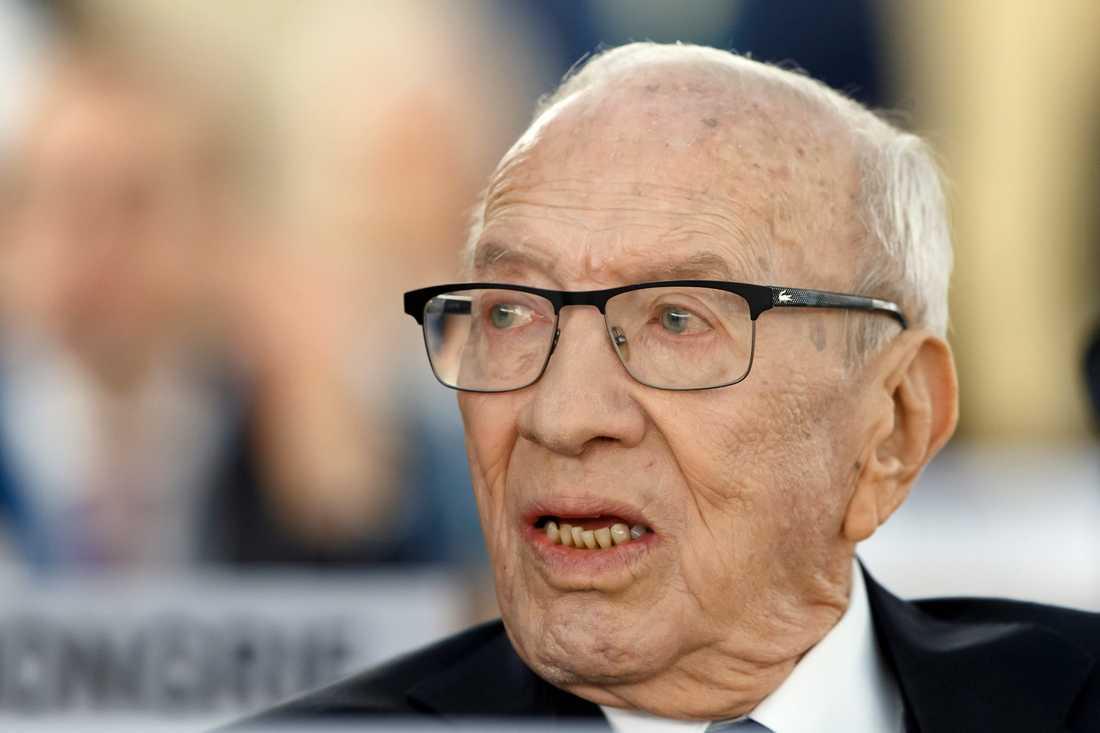 Tunisiens president Beji Caid Essebsi. Arkivbild.