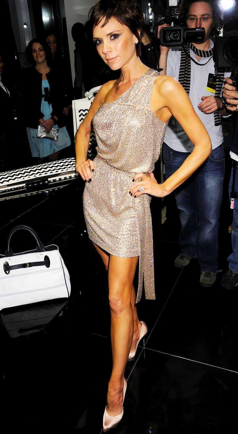 Victoria Beckham på fest under New York Fashion Week.