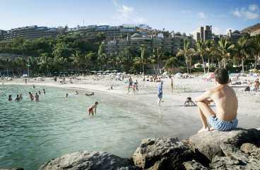 Gran Canaria är det populäraste solresmålet under sportlovsveckorna.