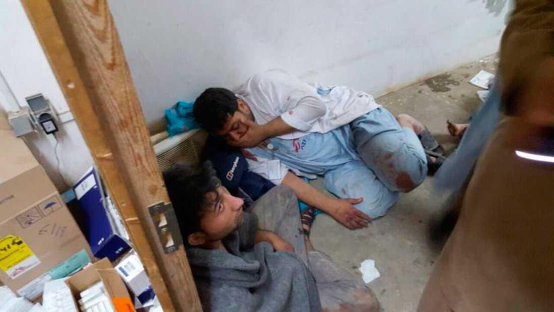 Chockad personal på sjukhuset efter bombattacken.