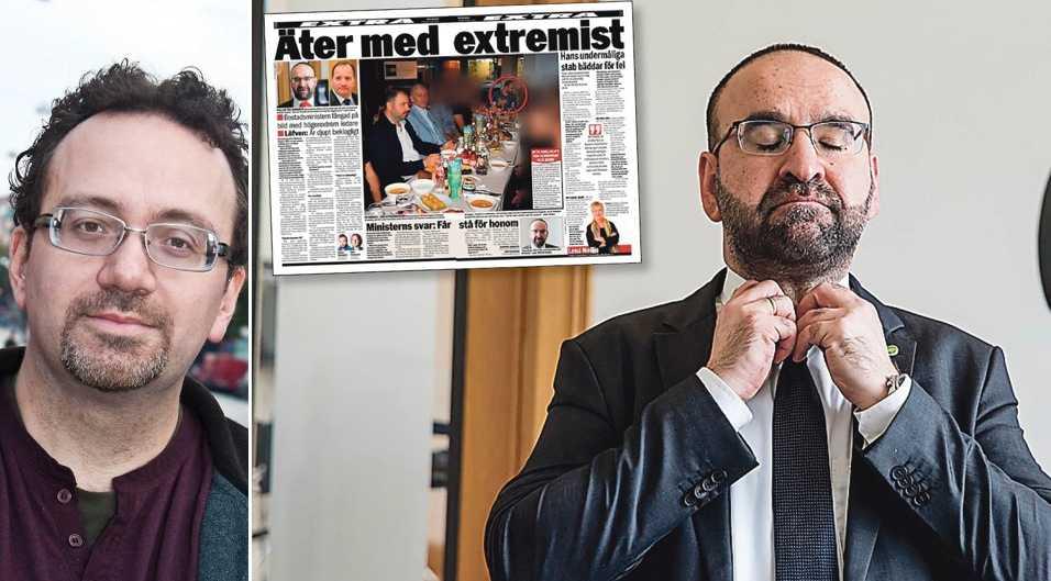 """Bostadsminister Mehmet Kaplan har bland annat deltagit vid en middag tillsammans med fascistiska Grå Vargarna. Och visst, man kan träffa detta """"turkiska civilsamhälle"""", skriver debattören, men då ska man skälla ut dem och ta debatten mot hatet."""