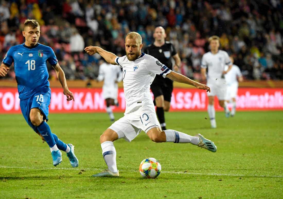 Teemu Pukki gjorde Finlands mål.