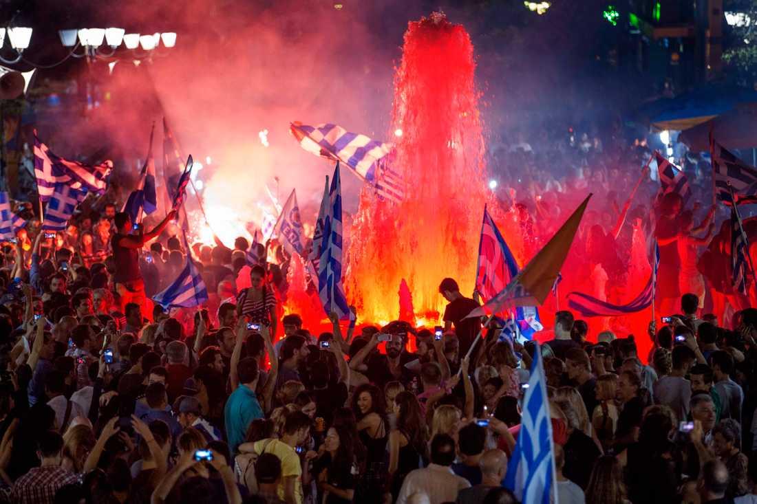 Den ekonomiska krisen i Grekland ledde till kravaller och upplopp.