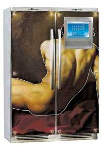 Avklätt kylskåp Välsvarvad prototyp från Electrolux.