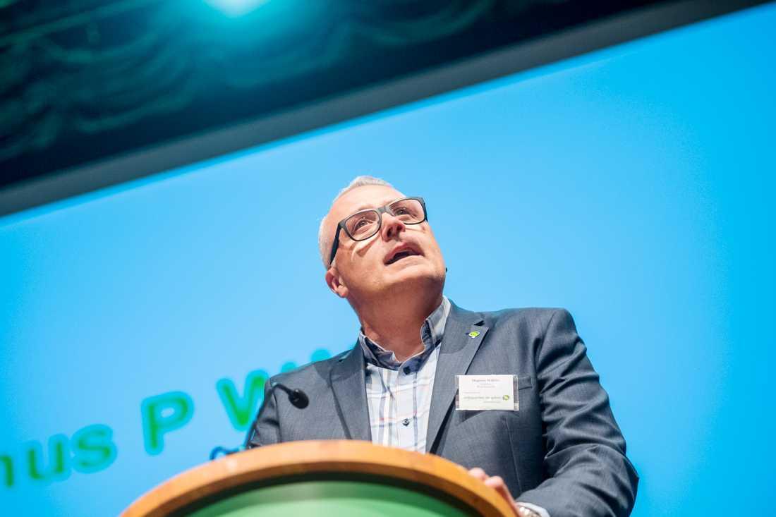 Bolunds motståndare till språkrörsposten, Magnus P Wåhlin.