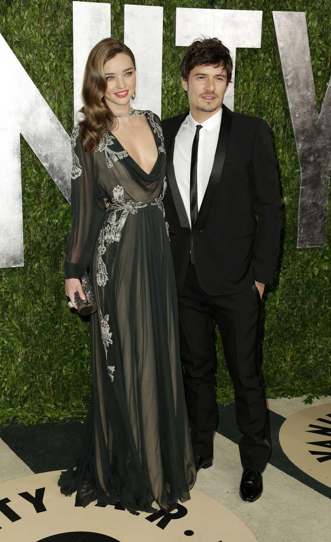Orlando Bloom och  Miranda Kerr.