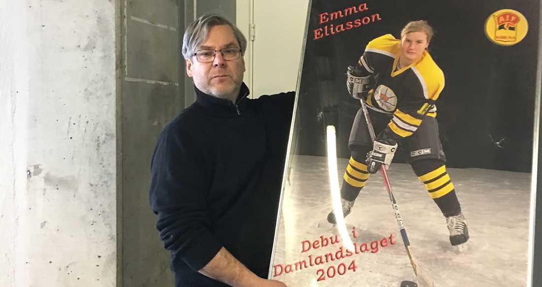 Emma-tavlan i dag (med förre tränaren Mats Sidmalm)
