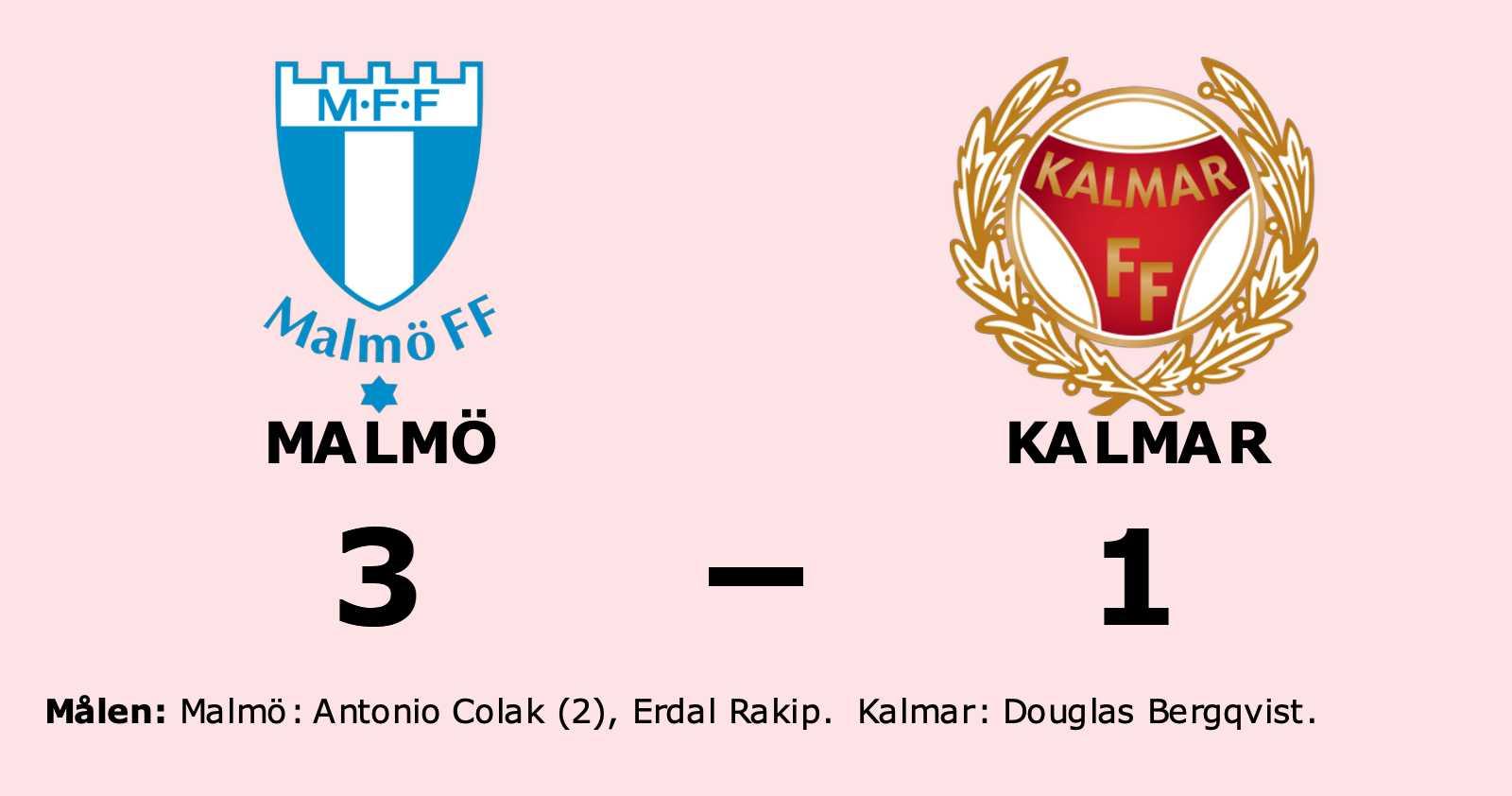 Malmö vann efter Colaks dubbel