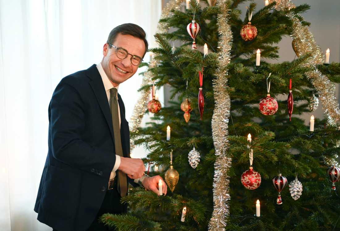Ulf Kristersson under sitt jultal.