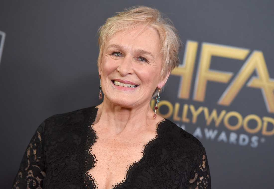 """Glenn Close nomineras till en Golden Globe för """"The wife"""". Arkivbild."""