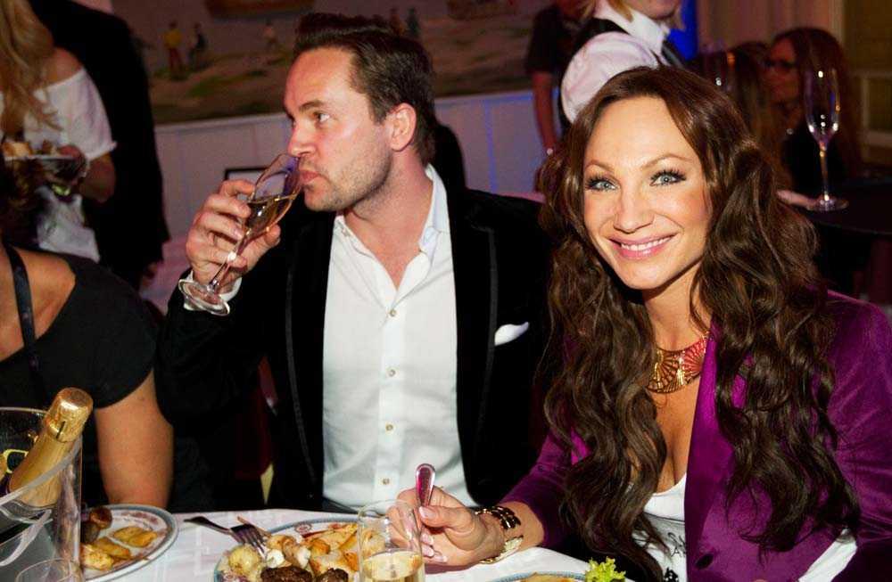 Charlotte Perrelli med nya kärleken Anders Jensen.