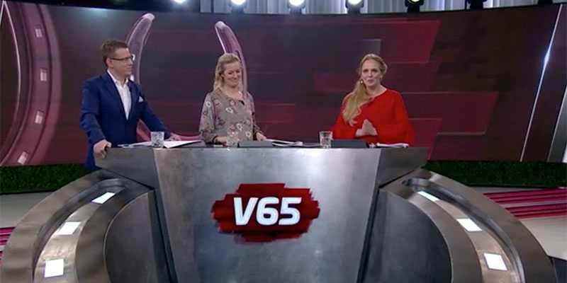 """Paula Ahlström fick se sin och sambon Pers häst vinna på Solvalla som programledare i V65 Direkt: """"Hur tar vi hem det här nu då..."""""""