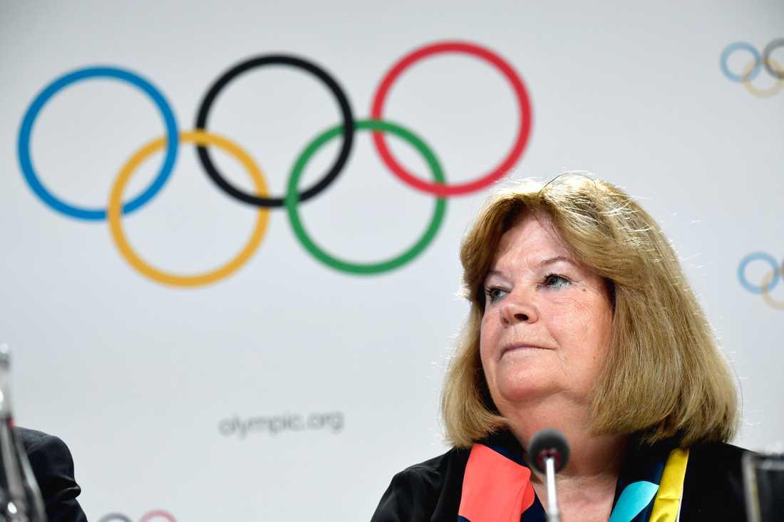 SOK:s generalsekreterare Gunilla Lindberg är övertygad om att OS i Tokyo kommer att bli av nästa år. Arkivbild.