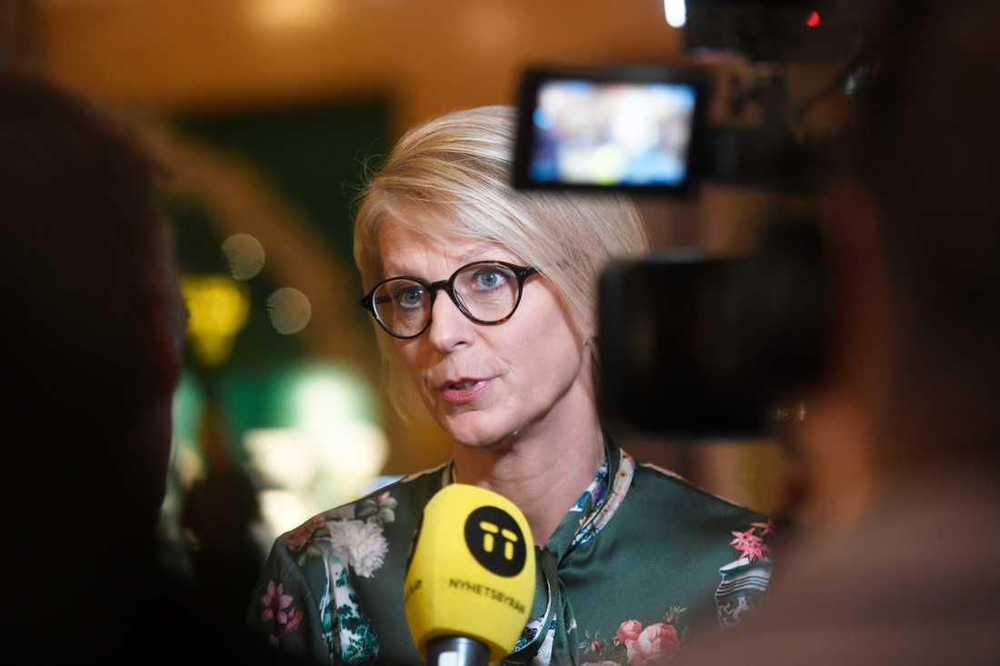 Moderaternas ekonomisk-politiska talesperson Elisabeth Svantesson kan få stöd av KD och SD om M lägger en egen budgetmotion. Den kan i så fall vinna över regeringens övergångsbudget.