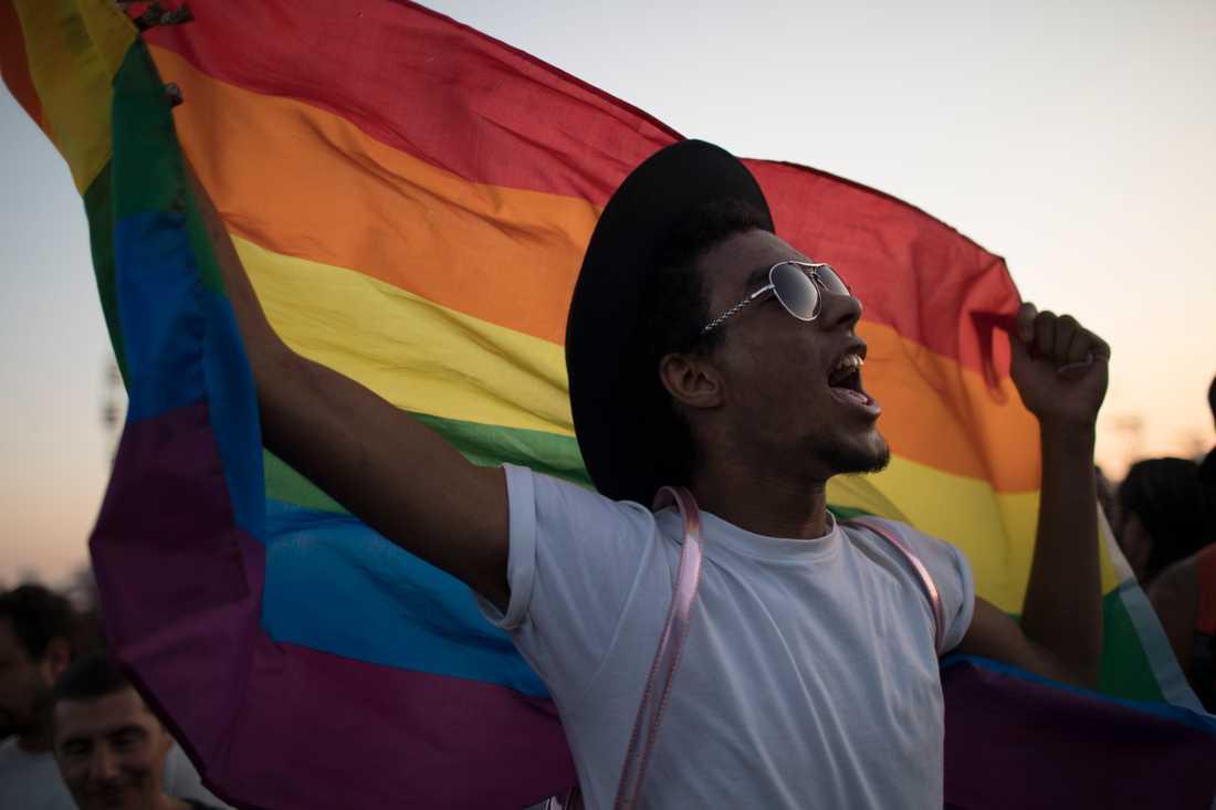 Efter 20 års kamp har högsta domstolen röstat för ett ökat skydd för hbtq-personer. Bilden är tagen på en pridefestival i Rio de Janeiro 2017. Arkivbild.